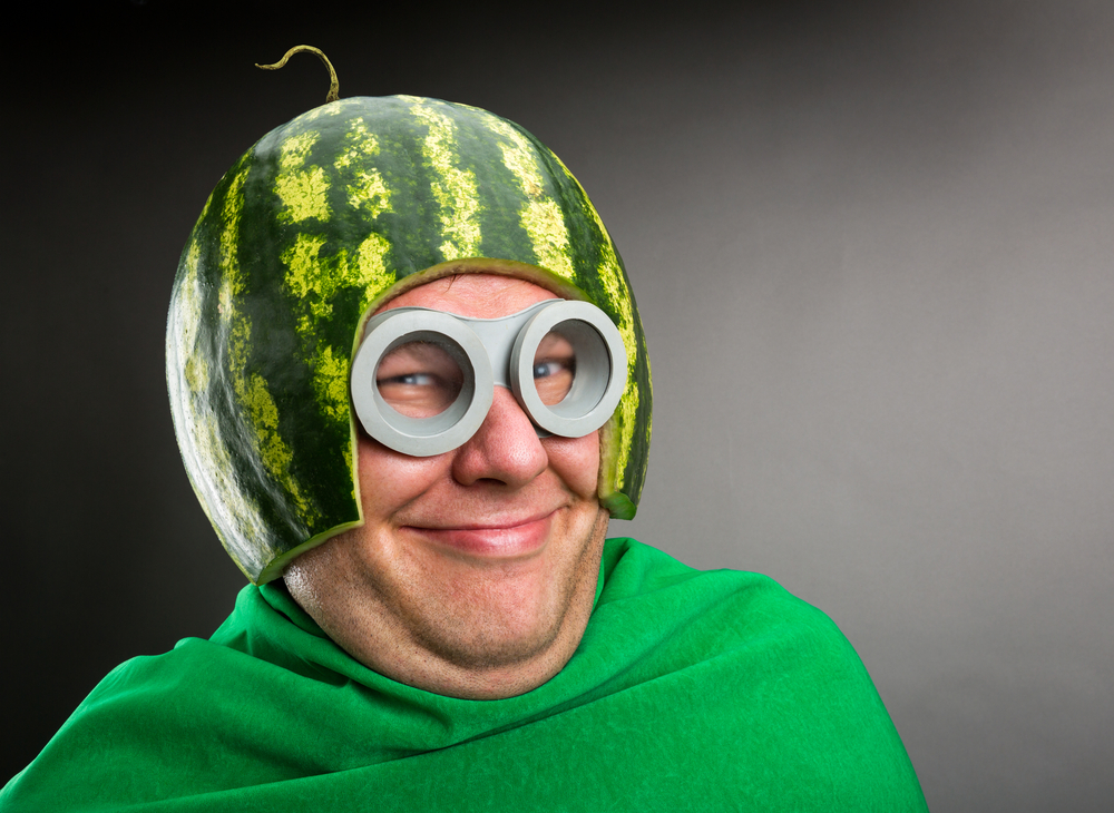 Man with Melon and Goggles